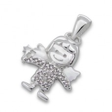 Fairy - 925 Sterling Silver Pendants with Zirconia stones A4S7505