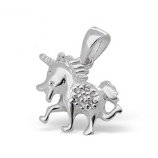 Unicorn - 925 Sterling Silver Pendants with Zirconia stones A4S7524