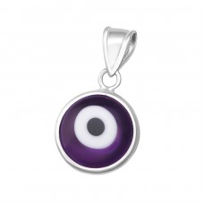 Evil Eye - 925 Sterling Silver Basic Pendants A4S12107