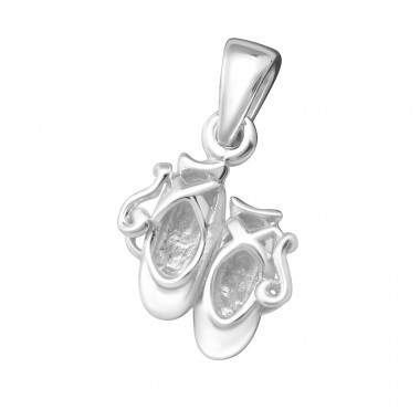 Shoe Pair - 925 Sterling Silver Basic Pendants A4S14957