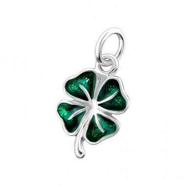 Shamrock - 925 Sterling Silver Basic Pendants A4S18330