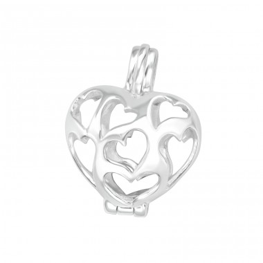 Heart - 925 Sterling Silver Basic Pendants A4S19355