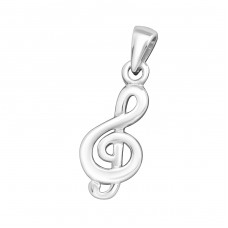 Treble Clef - 925 Sterling Silver Basic Pendants A4S21703