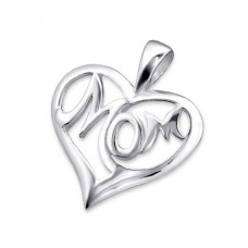 Mom - 925 Sterling Silver Basic Pendants A4S21704