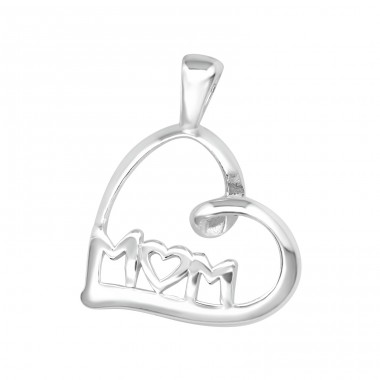 Heart - 925 Sterling Silver Basic Pendants A4S22050