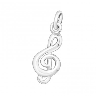 Treble Clef - 925 Sterling Silver Basic Pendants A4S22092