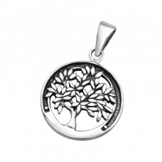 Tree Of Life - 925 Sterling Silver Basic Pendants A4S24535