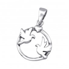 Birds - 925 Sterling Silver Basic Pendants A4S24536