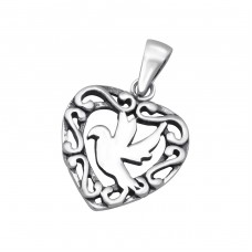 Bird - 925 Sterling Silver Basic Pendants A4S24541