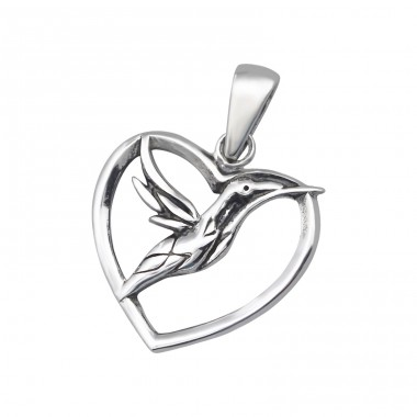 Bird - 925 Sterling Silver Basic Pendants A4S24542