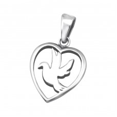 Bird - 925 Sterling Silver Basic Pendants A4S24545