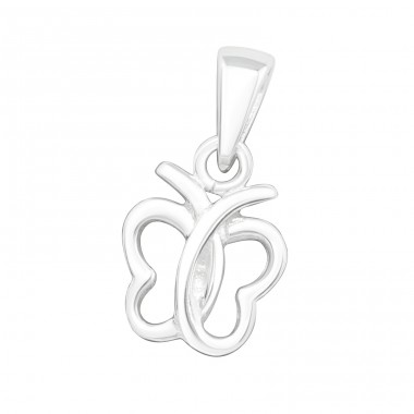 Butterfly - 925 Sterling Silver Basic Pendants A4S24836