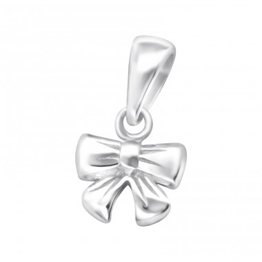 Bow - 925 Sterling Silver Basic Pendants A4S24878