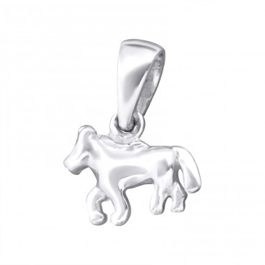 Horse - 925 Sterling Silver Basic Pendants A4S24937