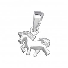 Horse - 925 Sterling Silver Basic Pendants A4S24938