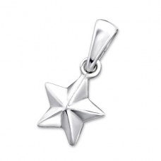 Star - 925 Sterling Silver Basic Pendants A4S24950
