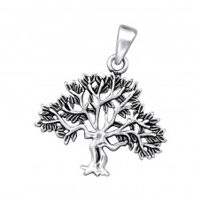 Tree - 925 Sterling Silver Basic Pendants A4S27785