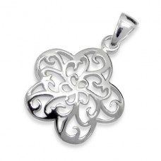 Filigree Star - 925 Sterling Silver Basic Pendants A4S2789