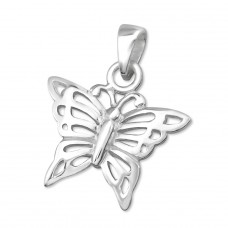 Butterfly - 925 Sterling Silver Basic Pendants A4S2797