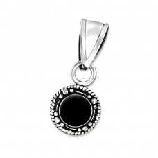 Round - 925 Sterling Silver Basic Pendants A4S30984