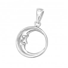 Moon - 925 Sterling Silver Basic Pendants A4S32265