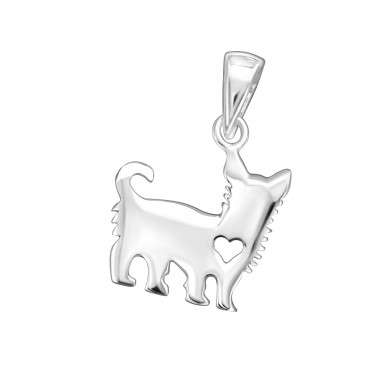 Dog - 925 Sterling Silver Basic Pendants A4S32267