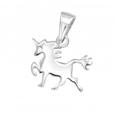 Unicorn - 925 Sterling Silver Basic Pendants A4S32268