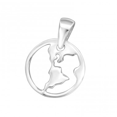 Country - 925 Sterling Silver Basic Pendants A4S32269