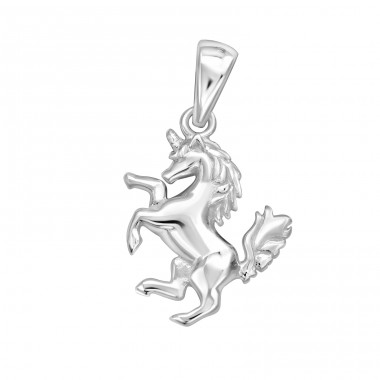Unicorn - 925 Sterling Silver Basic Pendants A4S32272
