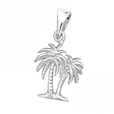 Palm Tree - 925 Sterling Silver Basic Pendants A4S32273