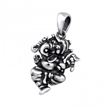 Ganesha - 925 Sterling Silver Basic Pendants A4S32274