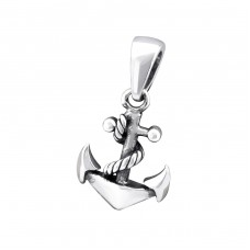 Anchor - 925 Sterling Silver Basic Pendants A4S32275