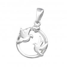 Love Brids - 925 Sterling Silver Basic Pendants A4S33418