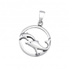 Dolphin - 925 Sterling Silver Basic Pendants A4S34663