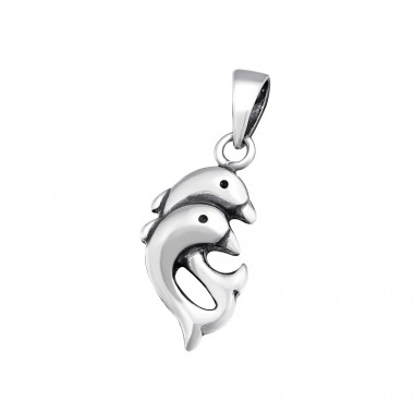 Dolphin - 925 Sterling Silver Basic Pendants A4S34668