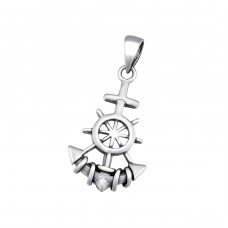 Anchor - 925 Sterling Silver Basic Pendants A4S34669