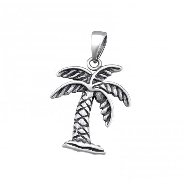 Palm Tree - 925 Sterling Silver Basic Pendants A4S34670