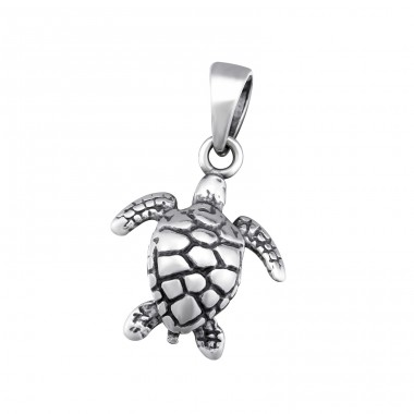 Turtle - 925 Sterling Silver Basic Pendants A4S34671