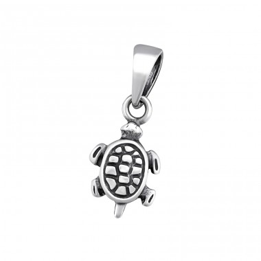 Turtle - 925 Sterling Silver Basic Pendants A4S34672