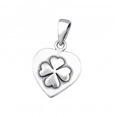 Lucky Clover - 925 Sterling Silver Basic Pendants A4S34674