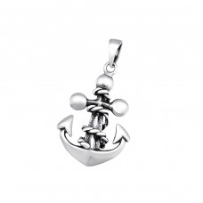 Anchor - 925 Sterling Silver Basic Pendants A4S34675