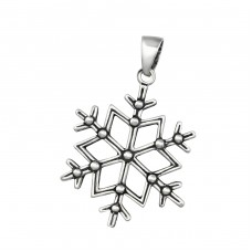 Snowflake - 925 Sterling Silver Basic Pendants A4S34861