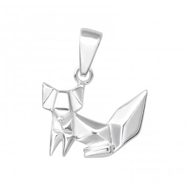 Origami Fox - 925 Sterling Silver Basic Pendants A4S35210