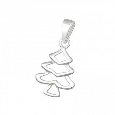 Christmas Tree - 925 Sterling Silver Basic Pendants A4S35688