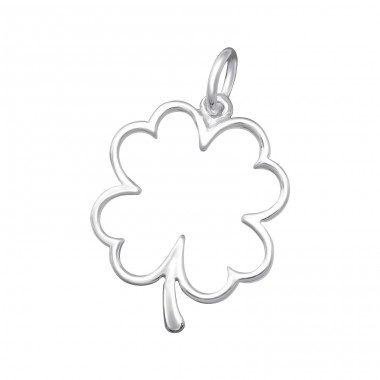 Lucky Clover - 925 Sterling Silver Basic Pendants A4S36131