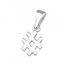 Hashtag - 925 Sterling Silver Basic Pendants A4S36737