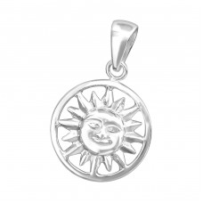 Sun - 925 Sterling Silver Basic Pendants A4S36740