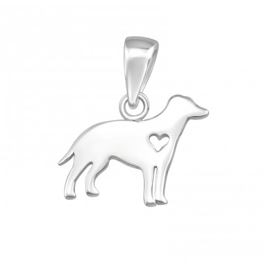 Dog - 925 Sterling Silver Basic Pendants A4S36741