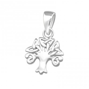 Celtic Tree - 925 Sterling Silver Basic Pendants A4S36744