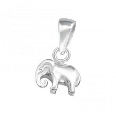 Elephant - 925 Sterling Silver Basic Pendants A4S36746